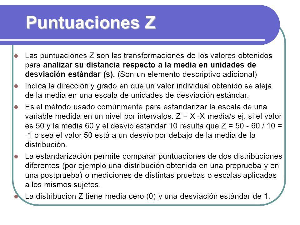 Puntuaciones Z