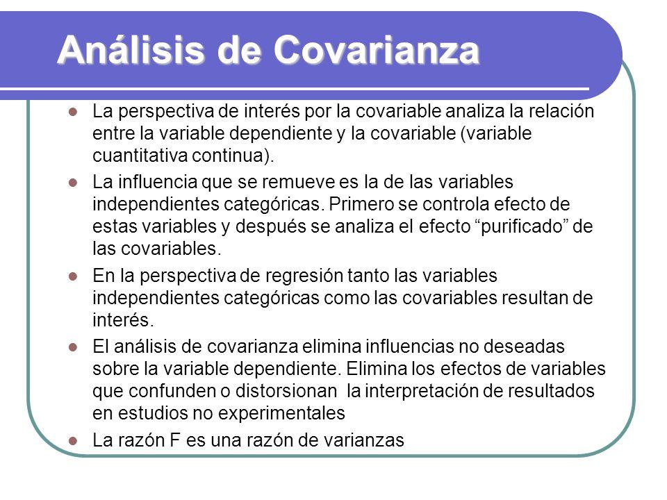 Análisis de Covarianza