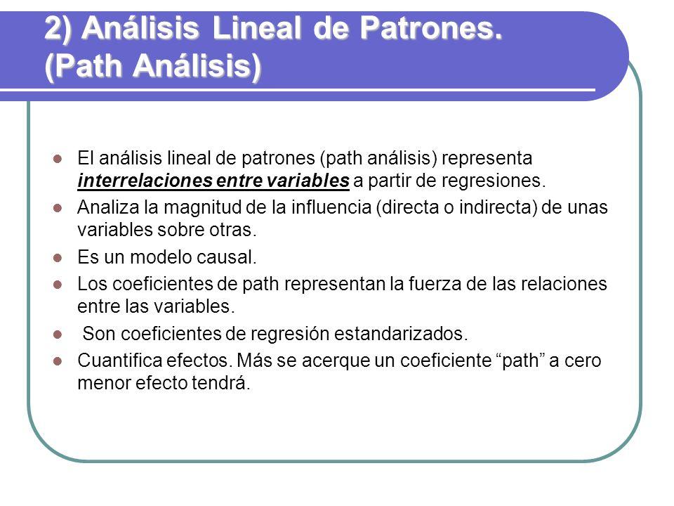 2) Análisis Lineal de Patrones. (Path Análisis)