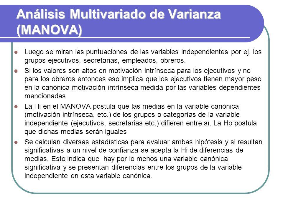 Análisis Multivariado de Varianza (MANOVA)