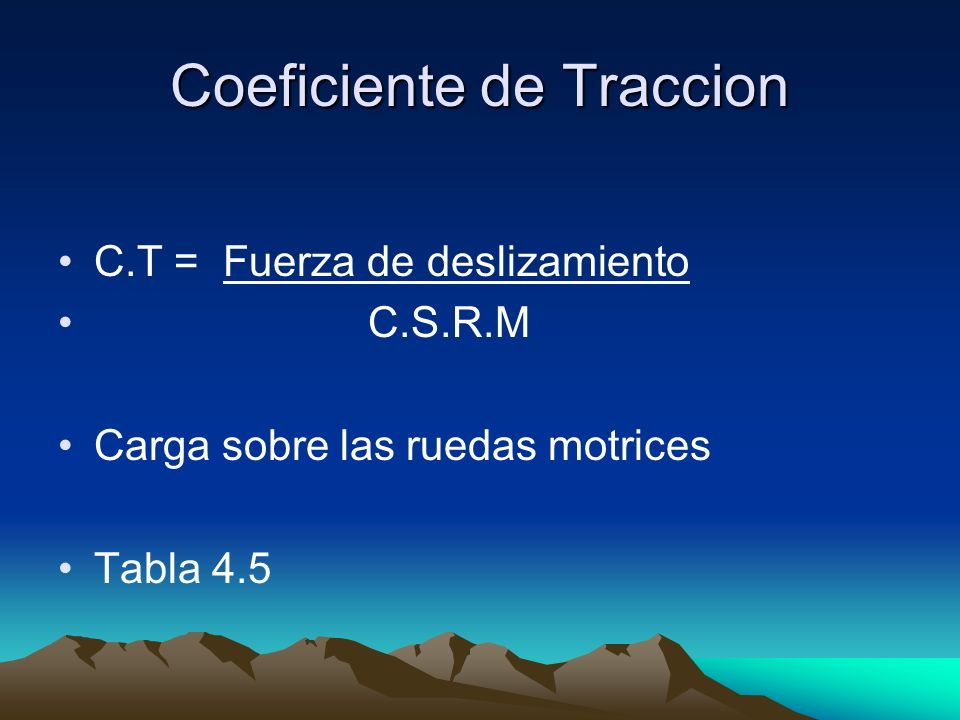 Coeficiente de Traccion