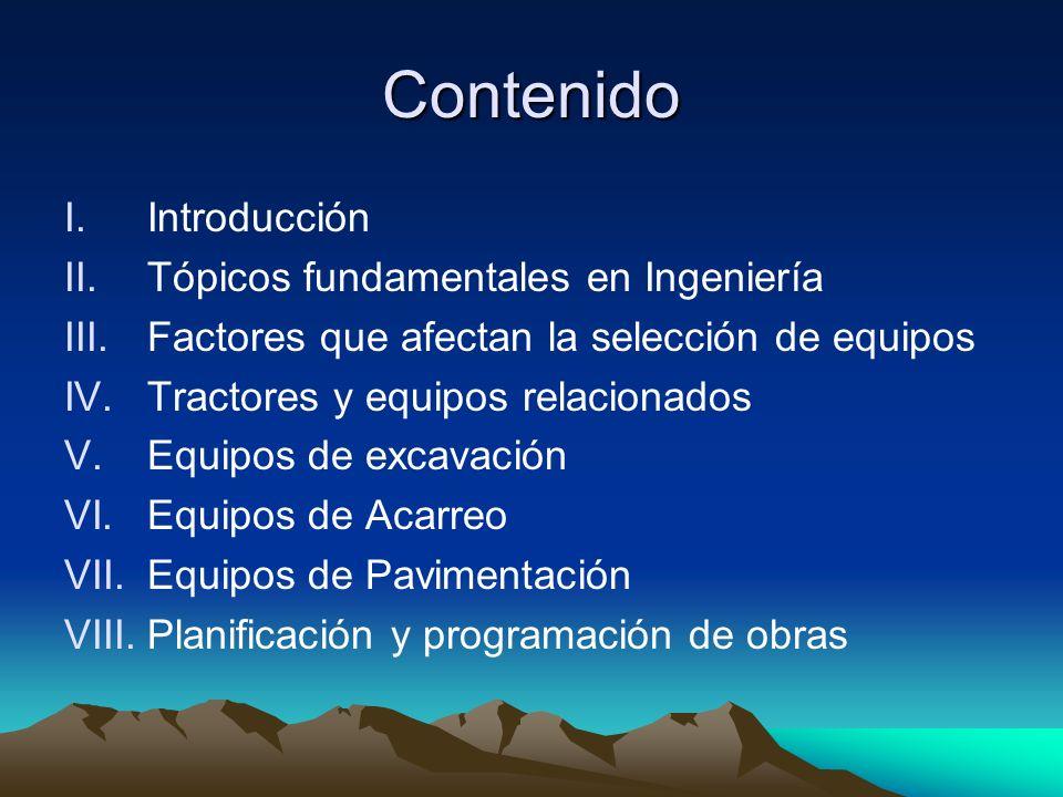 Contenido Introducción Tópicos fundamentales en Ingeniería