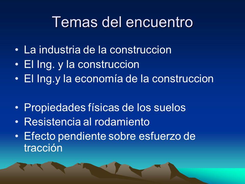 Temas del encuentro La industria de la construccion