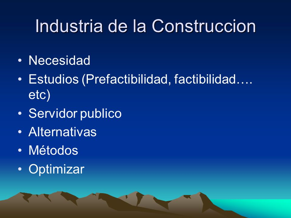 Industria de la Construccion