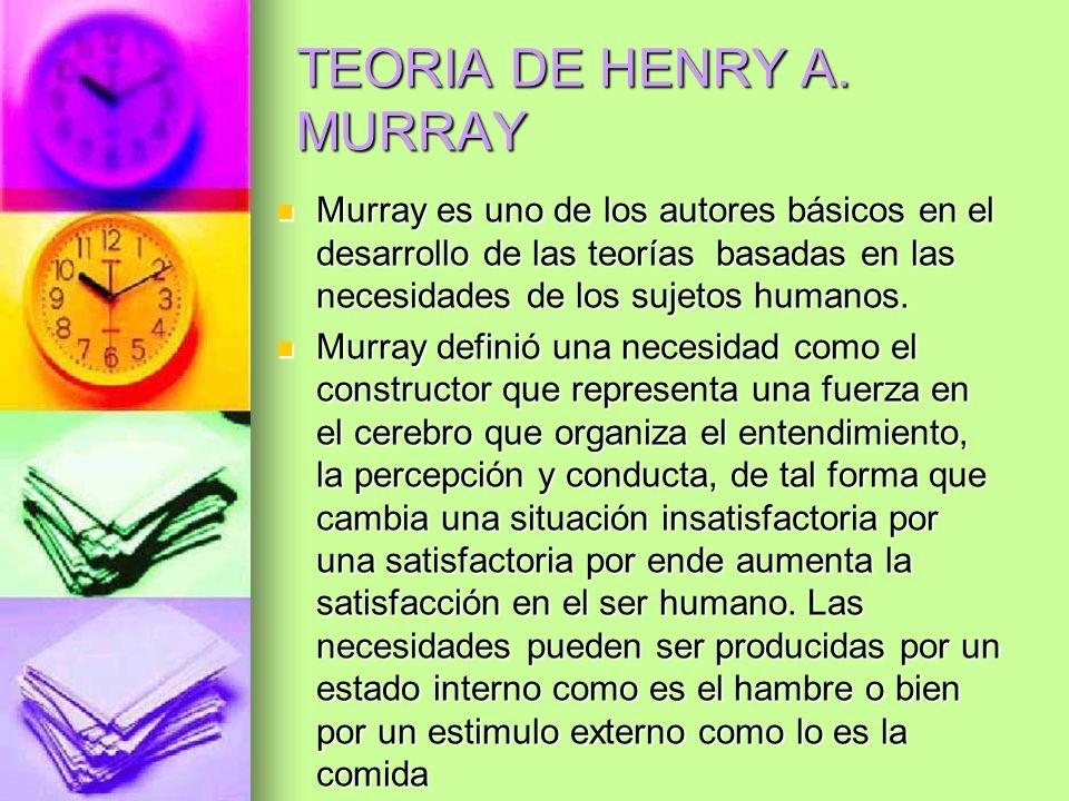 TEORIA DE HENRY A. MURRAY