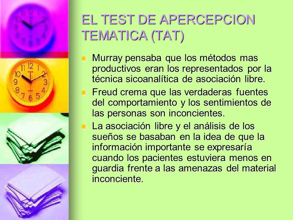 EL TEST DE APERCEPCION TEMATICA (TAT)