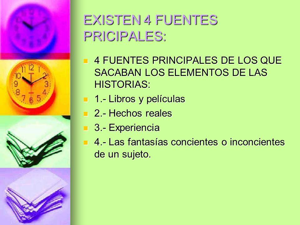 EXISTEN 4 FUENTES PRICIPALES: