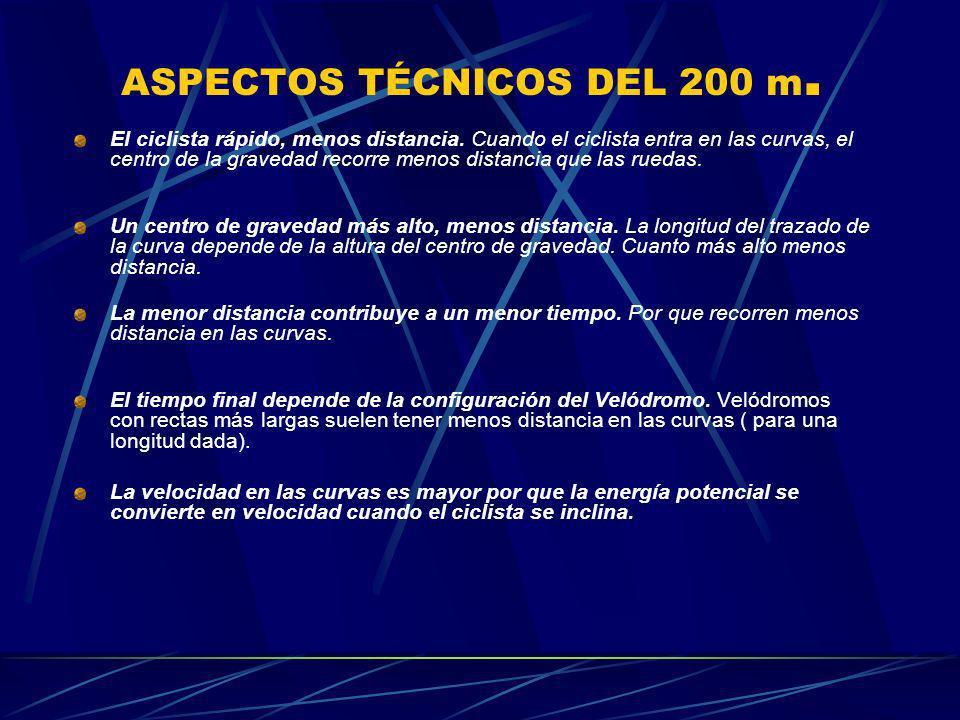 ASPECTOS TÉCNICOS DEL 200 m.