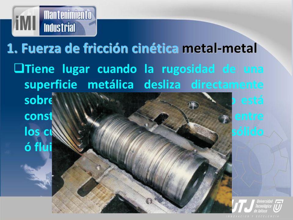 1. Fuerza de fricción cinética metal-metal