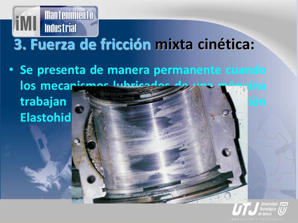 3. Fuerza de fricción mixta cinética: