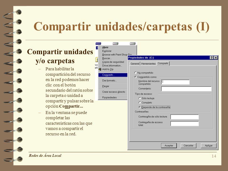 Compartir unidades/carpetas (I)