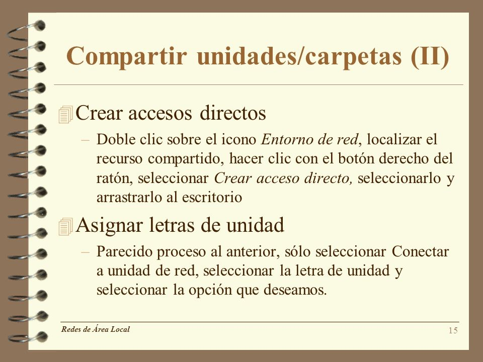 Compartir unidades/carpetas (II)
