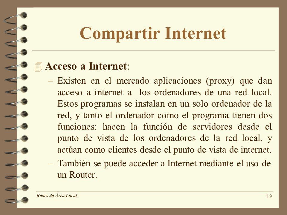 Compartir Internet Acceso a Internet: