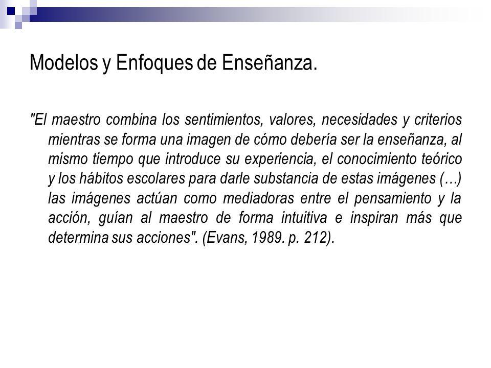 Modelos y Enfoques de Enseñanza.
