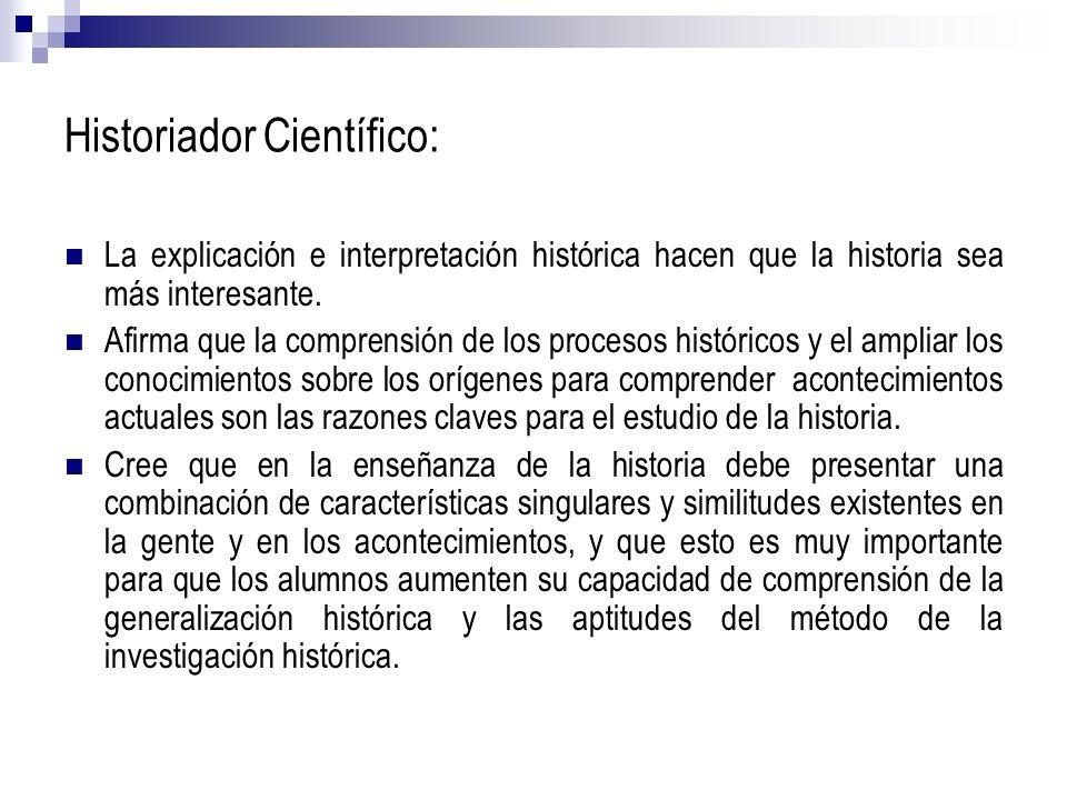 Historiador Científico: