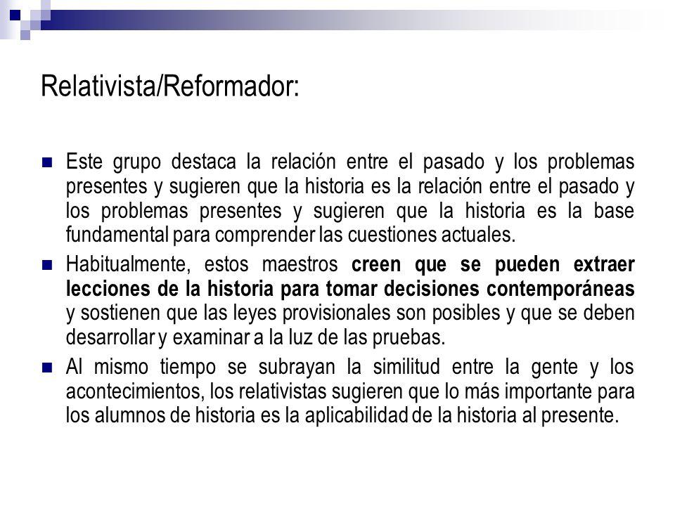 Relativista/Reformador: