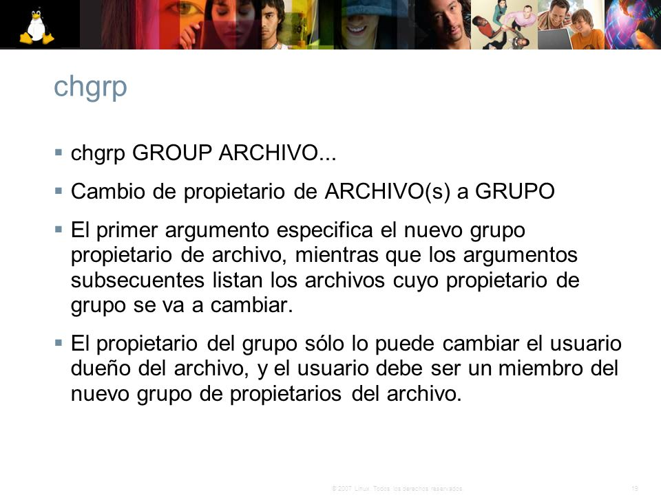 chgrp chgrp GROUP ARCHIVO...