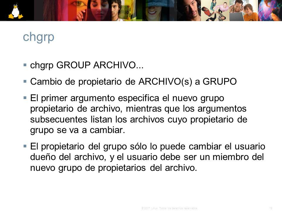 chgrp chgrp GROUP ARCHIVO...