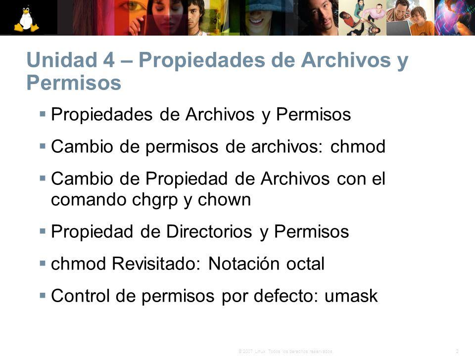Unidad 4 – Propiedades de Archivos y Permisos
