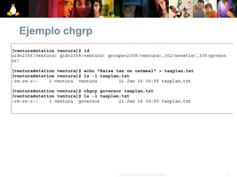 Ejemplo chgrp