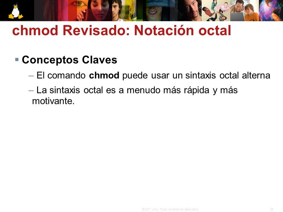 chmod Revisado: Notación octal