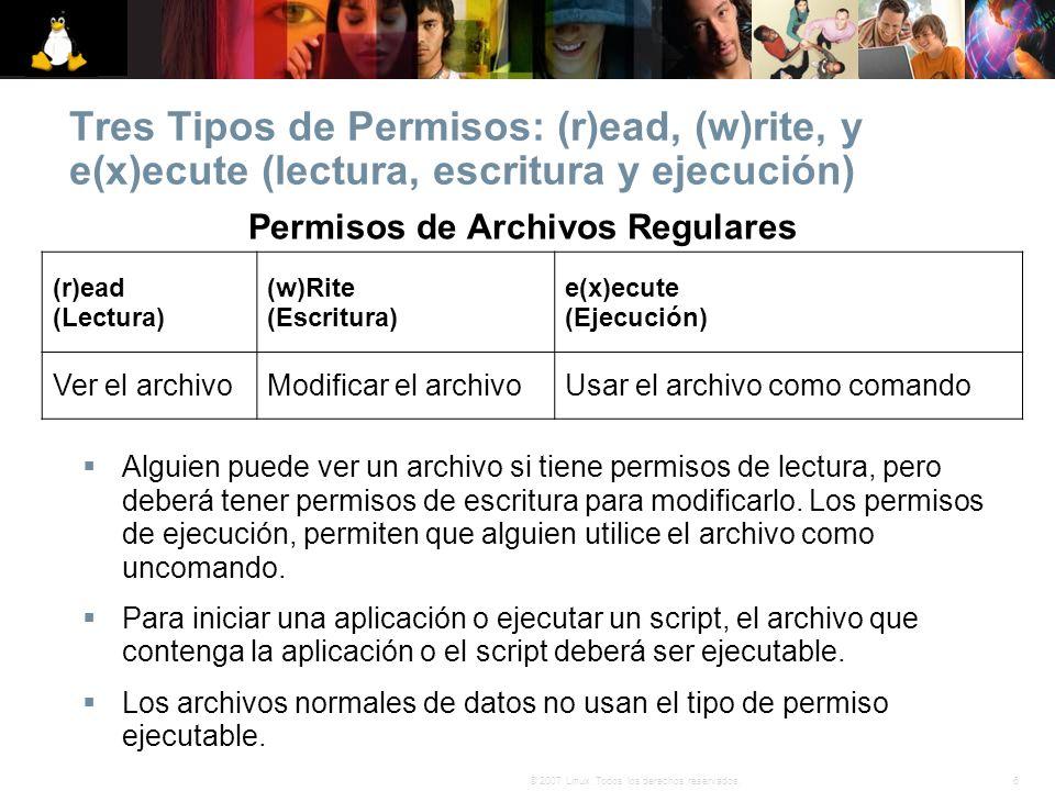 Permisos de Archivos Regulares