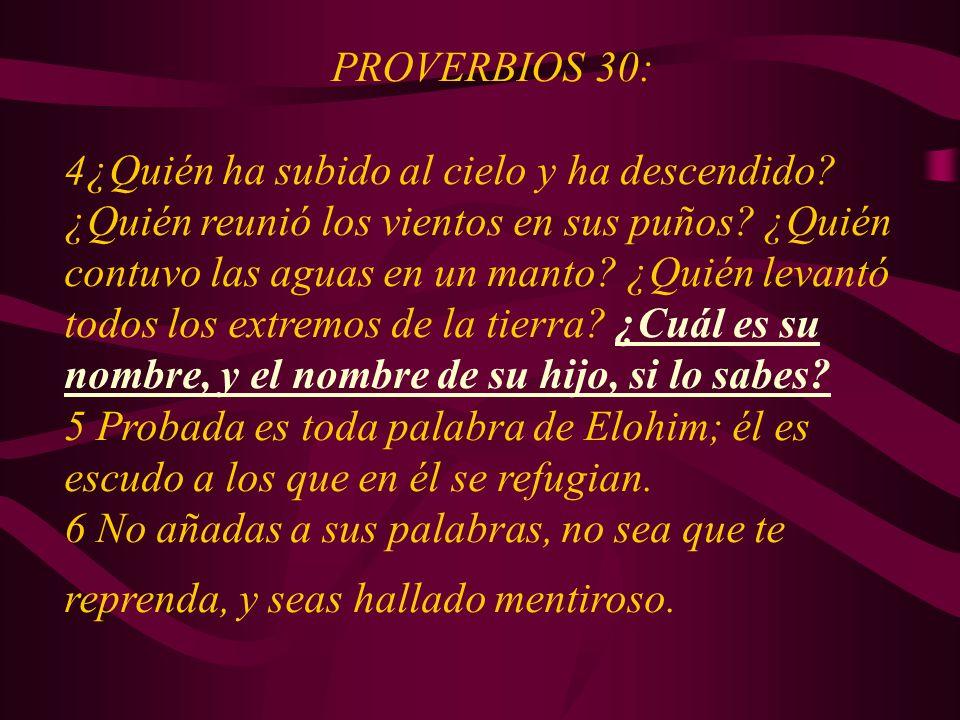 PROVERBIOS 30: