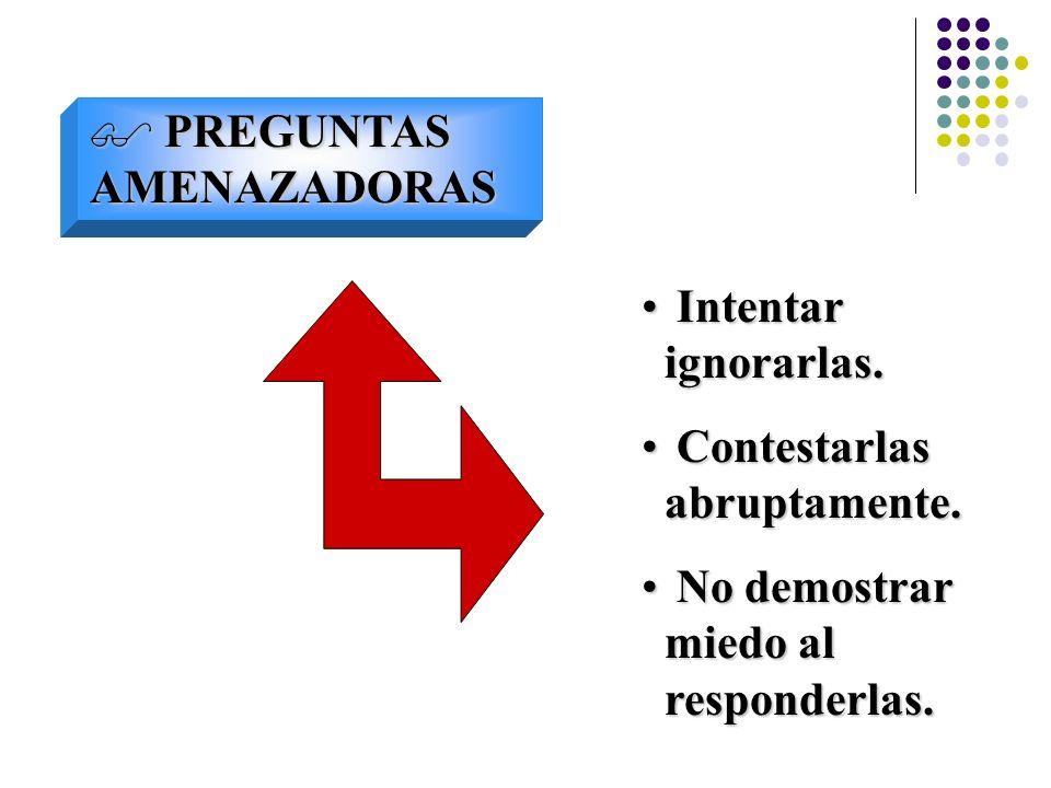PREGUNTAS AMENAZADORAS
