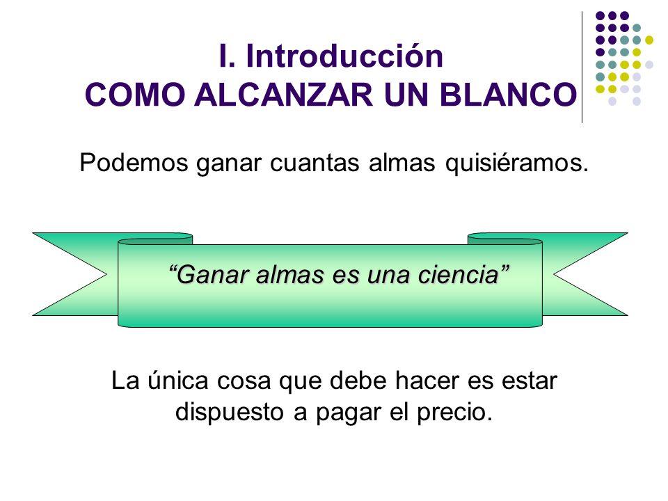 I. Introducción COMO ALCANZAR UN BLANCO