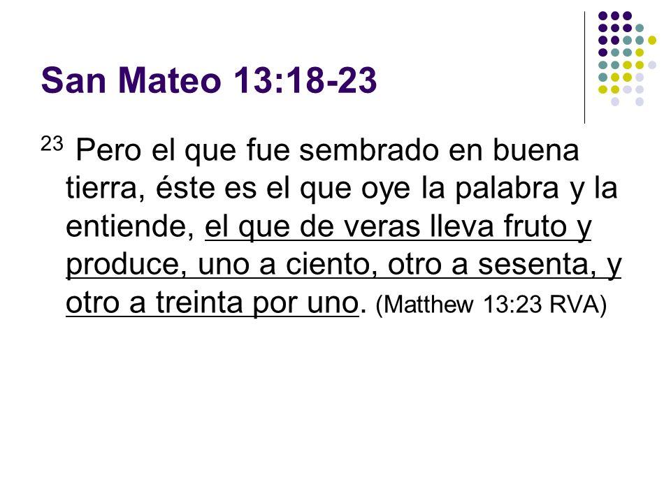 San Mateo 13:18-23