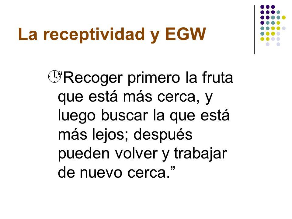 La receptividad y EGW
