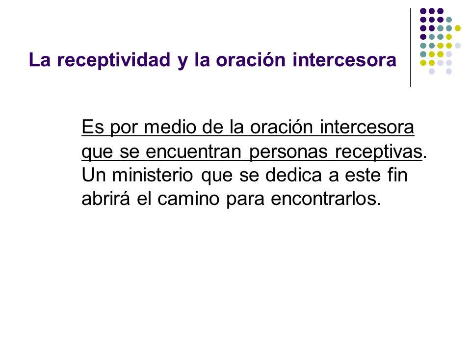 La receptividad y la oración intercesora