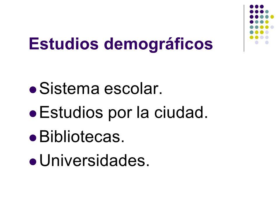 Estudios demográficos