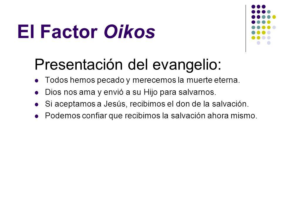 El Factor Oikos Presentación del evangelio: