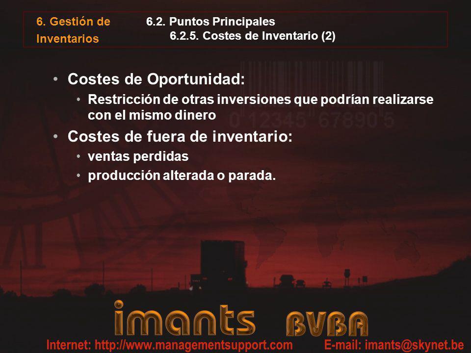6.2. Puntos Principales 6.2.5. Costes de Inventario (2)