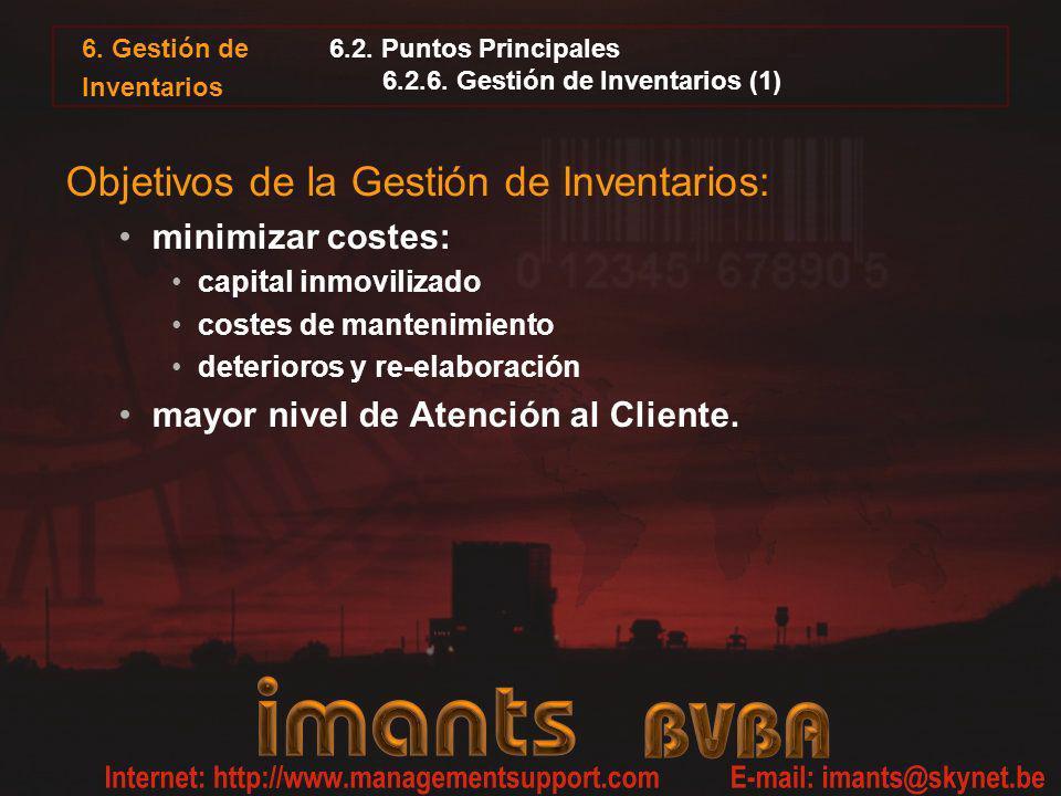 6.2. Puntos Principales 6.2.6. Gestión de Inventarios (1)