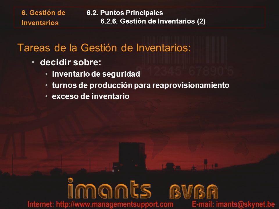 6.2. Puntos Principales 6.2.6. Gestión de Inventarios (2)