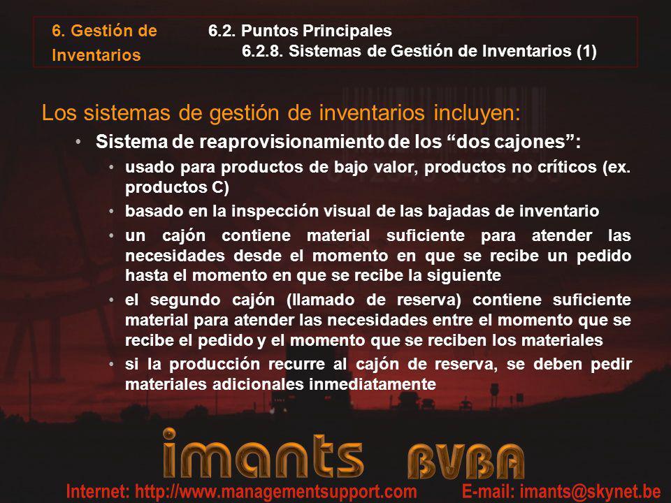 6.2. Puntos Principales 6.2.8. Sistemas de Gestión de Inventarios (1)