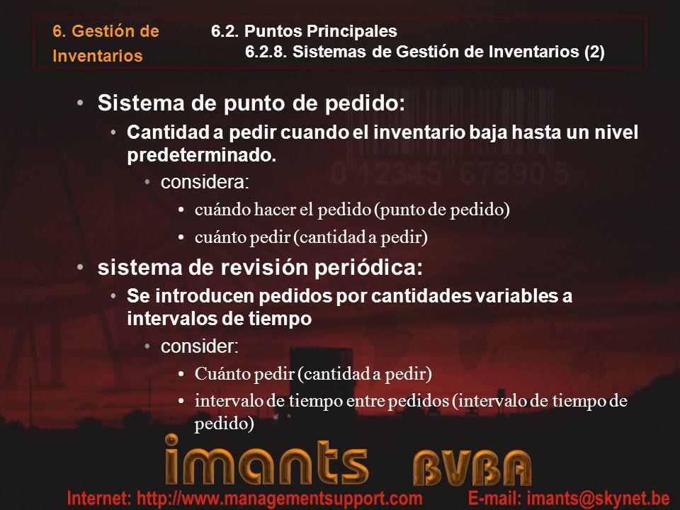 6.2. Puntos Principales 6.2.8. Sistemas de Gestión de Inventarios (2)