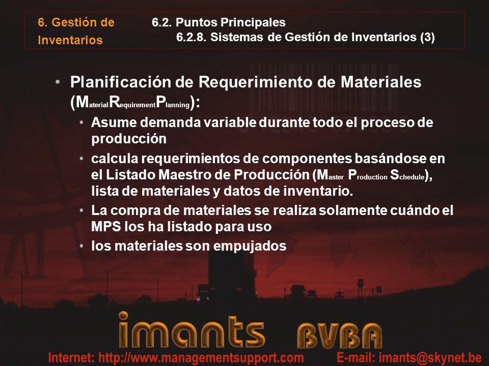 6.2. Puntos Principales 6.2.8. Sistemas de Gestión de Inventarios (3)
