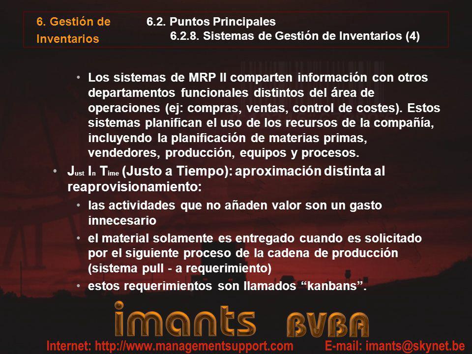6.2. Puntos Principales 6.2.8. Sistemas de Gestión de Inventarios (4)