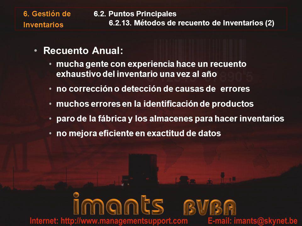 6.2. Puntos Principales 6.2.13. Métodos de recuento de Inventarios (2)