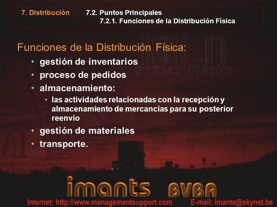 7.2. Puntos Principales 7.2.1. Funciones de la Distribución Física