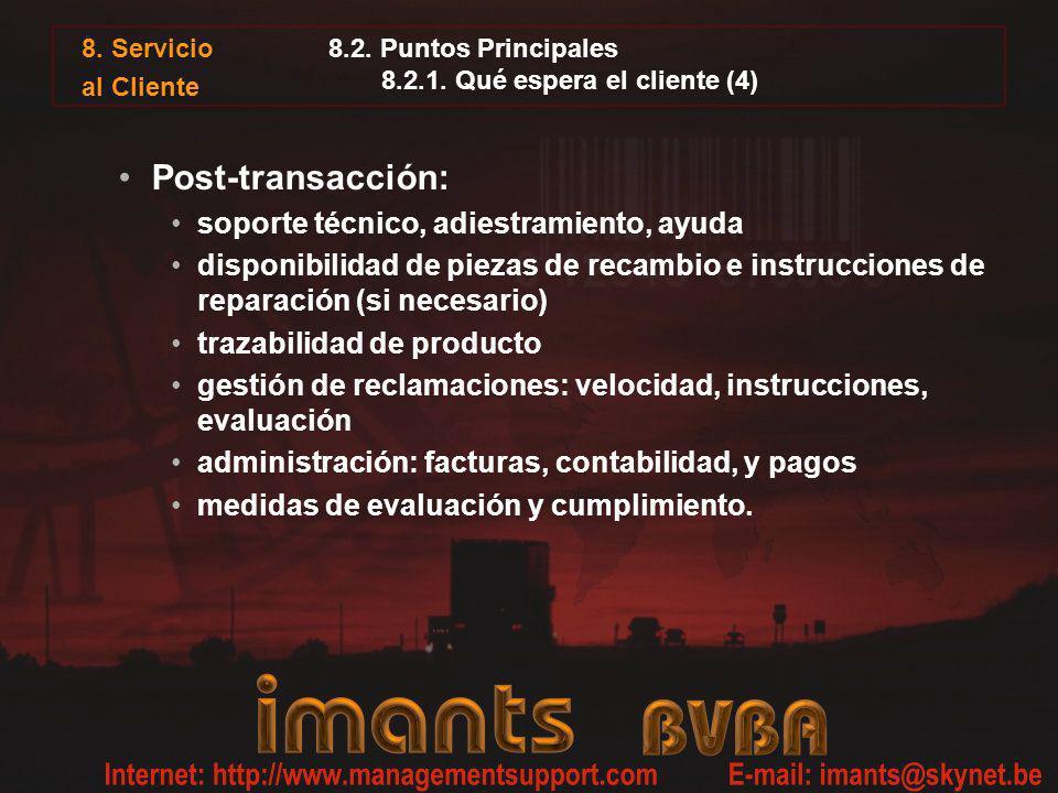 8.2. Puntos Principales 8.2.1. Qué espera el cliente (4)