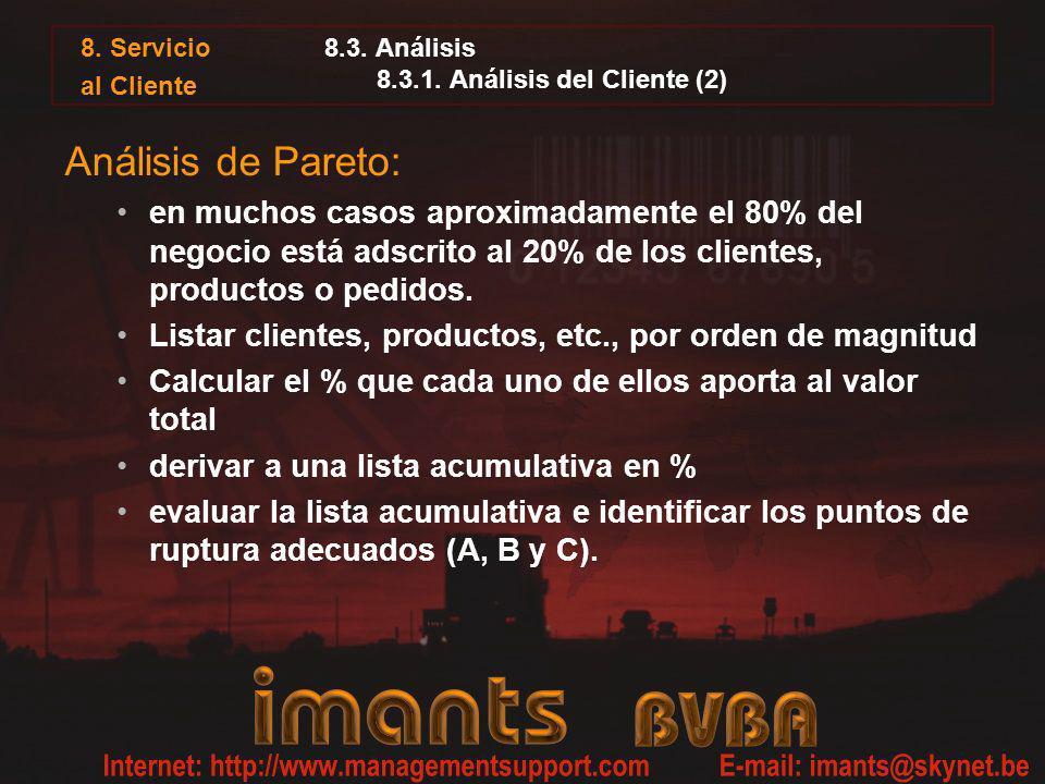8.3. Análisis 8.3.1. Análisis del Cliente (2)