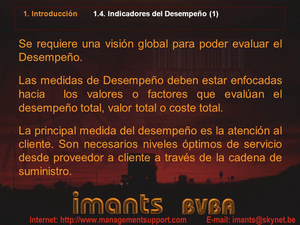 1.4. Indicadores del Desempeño (1)