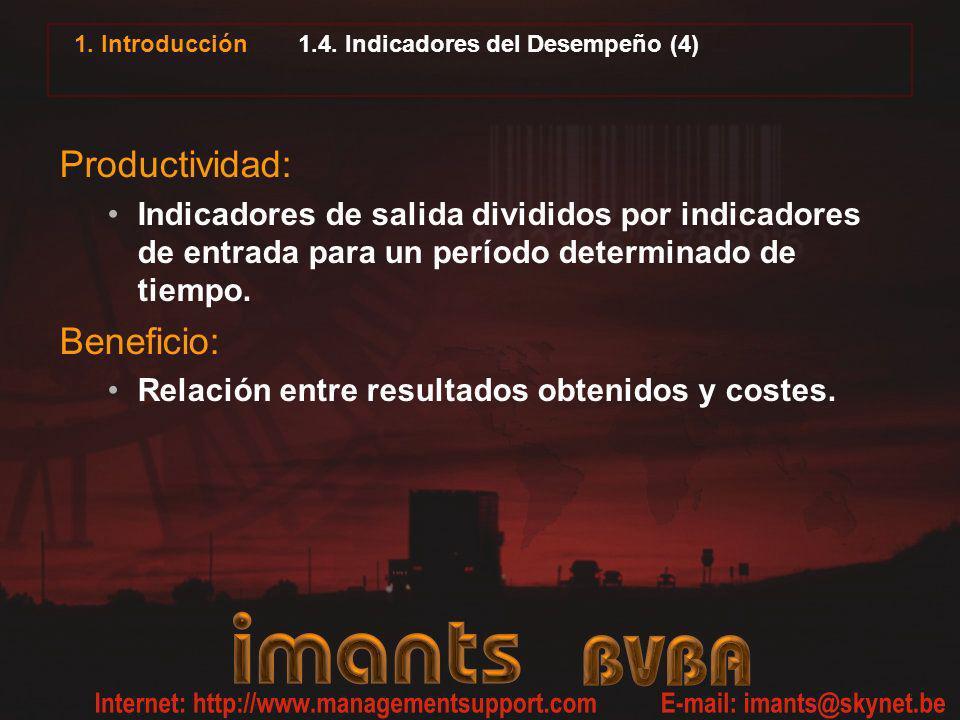 1.4. Indicadores del Desempeño (4)