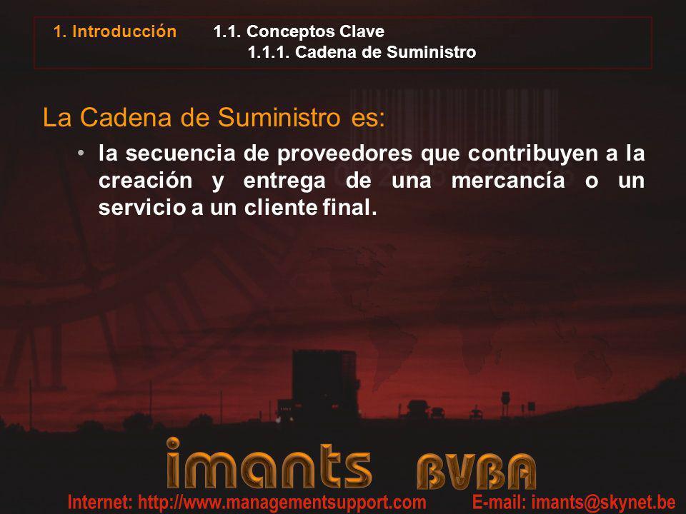 1.1. Conceptos Clave 1.1.1. Cadena de Suministro