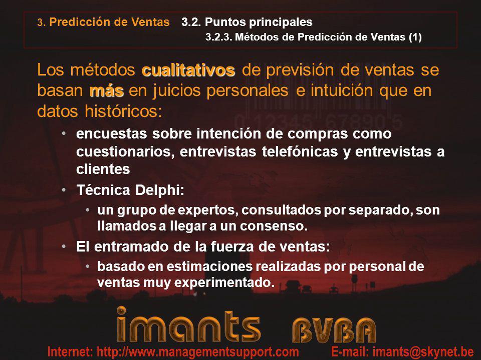 3.2. Puntos principales 3.2.3. Métodos de Predicción de Ventas (1)
