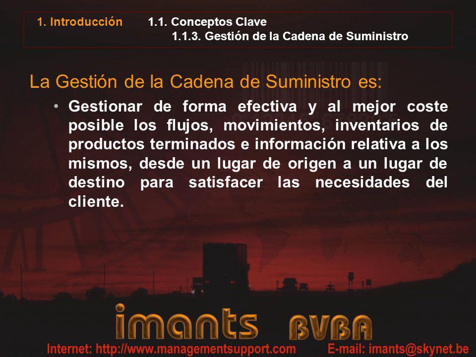 1.1. Conceptos Clave 1.1.3. Gestión de la Cadena de Suministro